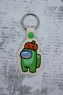 Pumpkin Among Us Snaptab / Keyfob Embroidery Design